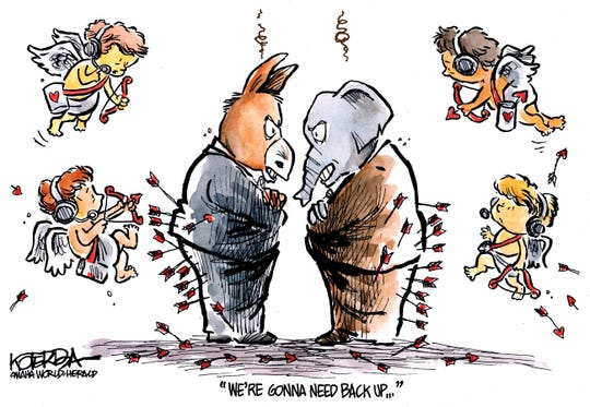 Cupids need backup vs. GOP and Democrats.