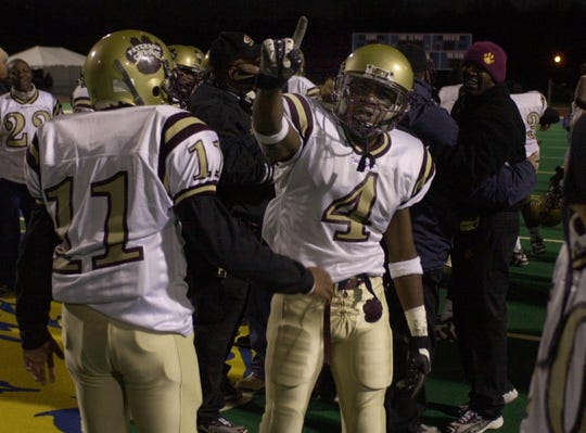Justin Parker, no. 4, was a star with the Paterson Catholic High School football team.