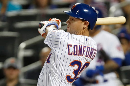 New York Mets outfielder Michael Conforto first met new Mets manager Luis Rojas at the Low-A level in 2014.