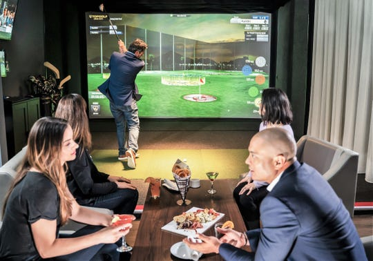 Up to eight people can play, eat and engage in each bay. The spaces will be available to rent.