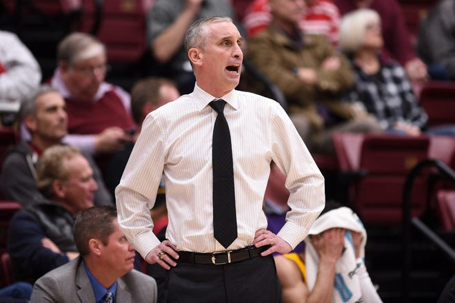 Arizona State Sun Devils head coach Bobby Hurley during the first half against the Stanford Cardinal at Maples Pavilion.