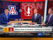 ESPN shows the wrong logo before the Arizona State-Stanford basketball game Thursday, Feb. 13.