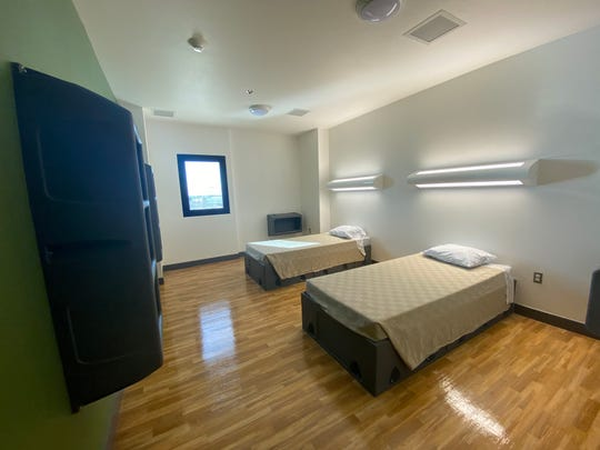 Patients at Valleywise Health Behavioral Health Center can stay  with a roommate or have a room to themselves.