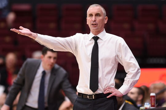 Feb 13, 2020; Stanford, California, USA; Arizona State Sun Devils head coach Bobby Hurley in the first half against the Stanford Cardinal at Maples Pavilion. Mandatory Credit: Cody Glenn-USA TODAY Sports