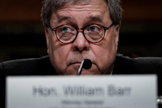 El fiscal general de Estados Unidos, William Barr, testifica ante el Comité de Apropiaciones del Senado en Washington D.C (Estados Unidos).