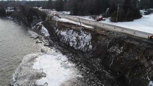 A roadside stabilization project along M-25 north of Sanilac Township is nearing completion, but a construction project was already planned in the fall.