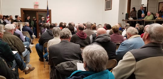 Around 150 residents attended the Town of Stanford's meeting Thursday.