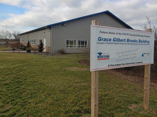 The future home of the Franklin County Career and Technology Center's Practical Nursing Program - the Grace Gilbert Brooks Building - is pictured on Friday, Feb. 14, 2020.