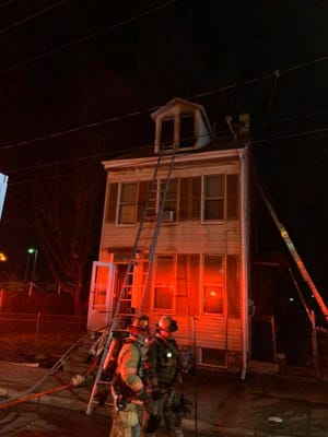 The fire was reported just after 11:30 p.m. Thursday night in the 600 block of East Princess Street in York City.