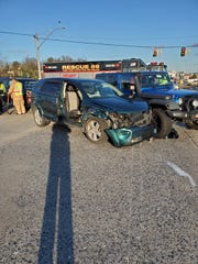 Police shared this photo of a crash on Route 30 at Susquehanna Trail on Friday afternoon.