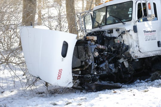 A box truck was damaged Friday in an accident on Ind. 1 north of U.S. 40.