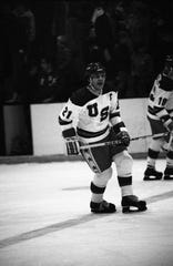 USA captain Mike Eruzione, who scored the game-winning goal against the Soviet Union, remembered playing an exhibition against Yale in Buffalo. Danny Brugman, a friend from his hometown of Winthrop, Massachusetts, was captain of the Bulldogs and they posed for picture safterwards. It was one of 61 games Team USA played in preparing for Lake Placid and raising money to pay their bills.