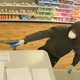 Surveillance video shows one of two armed robbery suspects in connection with the Feb. 5 holdup of the CVS Pharmacy on Lake Boulevard in Redding.