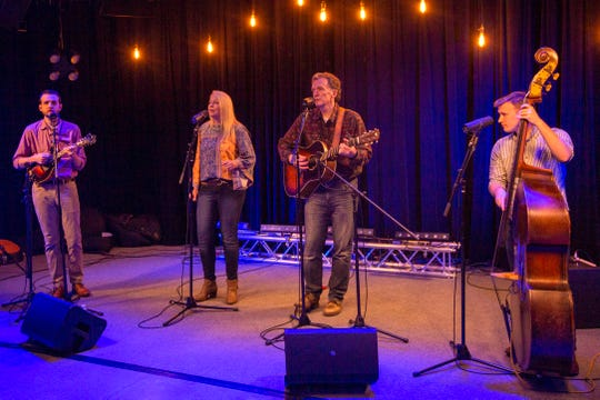 """A performance by Kristen Grainger & True North is taped for an episode of the CCTV Music program""""Local Roots"""" on Feb. 8, 2020 in Salem."""