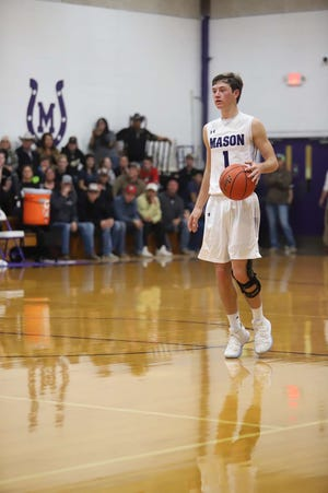 Mason High School's Whitt Bierschwale is shown in action during the 2019-2020 basketball season.