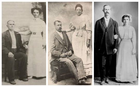 From left: Burl Pringle's grandfather, W.A. Pringle is seen here with his second wife, Victoria; Pringle's maternal grandparents, Mr. and Mrs. Bob Underwood who settled in Arden; Willie Loyd and Ora Vivian (Underwood) Pringle.