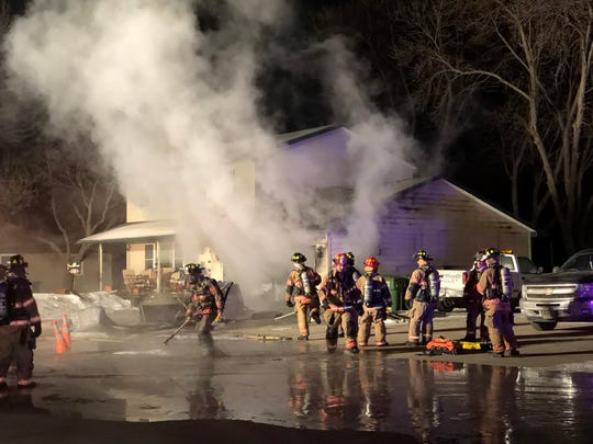 Sioux Falls Fire Rescue responds to a structure fire on the 3300 block of West Mulberry Street in northwestern Sioux Falls on Thursday night.