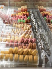 People order macaroons on Friday, Feb. 14, 2020 at CH Patisserie in Sioux Falls.