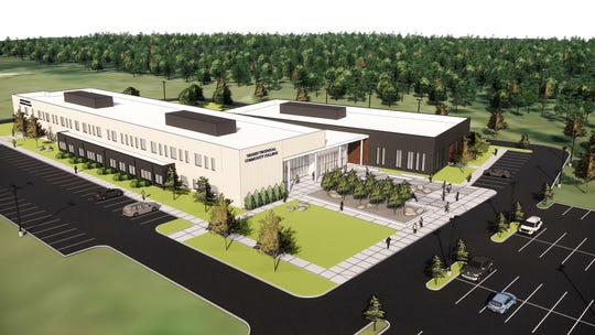 An artist rendering of the proposed Ozarks Technical Community College campus near Lake of the Ozarks.