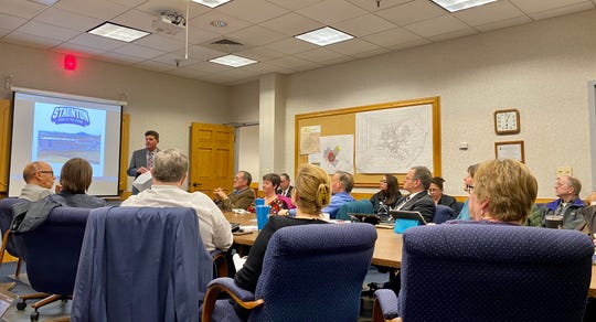 Staunton School Board and City Council gathered for a short joint work session on Thursday, Feb. 13, 2020, in City Hall's caucus room.