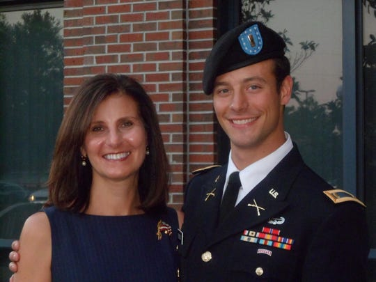 Phyllis Sisson with her son 2Lt Justin Sisson, who was killed in action in 2013. The 7th Annual Justin Sisson 5k walk/run will be held at 8 a.m. Saturday, Feb. 29, 2020, at FSU on Langford Green.