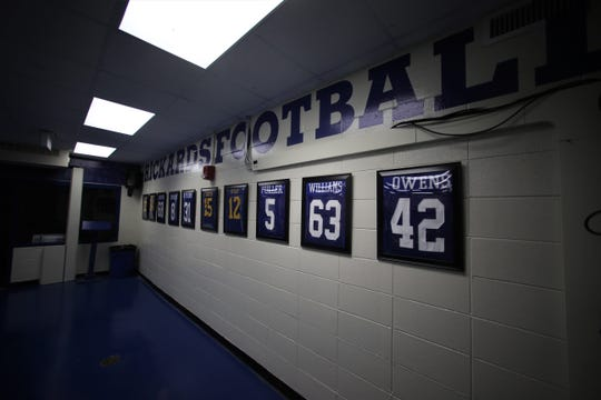 Rickards High School unveiled its new football locker rooms on Feb. 14, 2020. The project, estimated to cost nearly $50,000, took two years of fundraising by the football team and eight months of work to complete.
