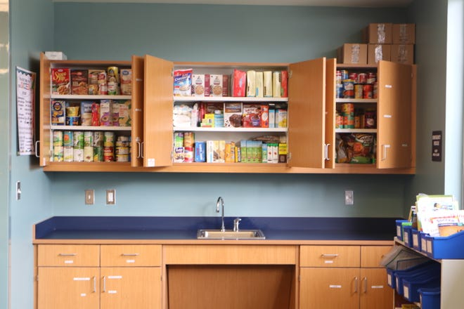 Pineview Elementary School's food pantry.