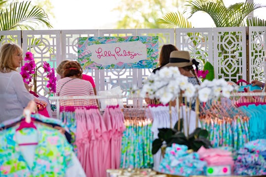 Lily Pulitzer Lounge offers colourful products, beverages and a view to the 10th hole.