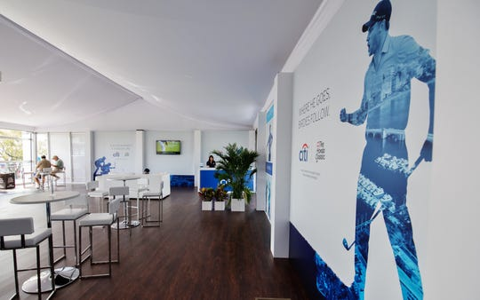 Spacious and cool, The Lounge is a great way to sip and eat at The Honda Classic.