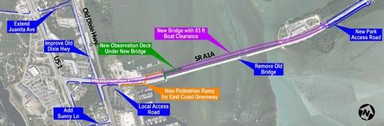 SR A1A North Causeway Bridge replacement map.
