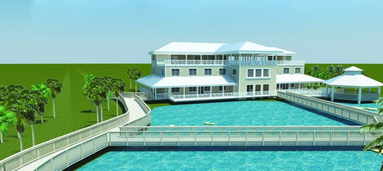 Artist's rendering of the proposed Ocean EcoCenter being built at the Florida Oceanographic Society's campus on Hutchinson Island in Stuart