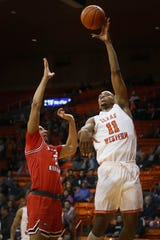 UTEP's Bryson Williams takes a shot against Western Kentucky during the game Thursday, Feb. 13, at the Don Haskins Center in El Paso.