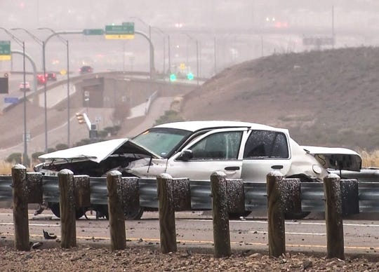 A hit-and-run driver fled after striking an El Paso firefighter Wednesday morning, Feb. 11, 2020, on Loop 375 near Resler Drive.