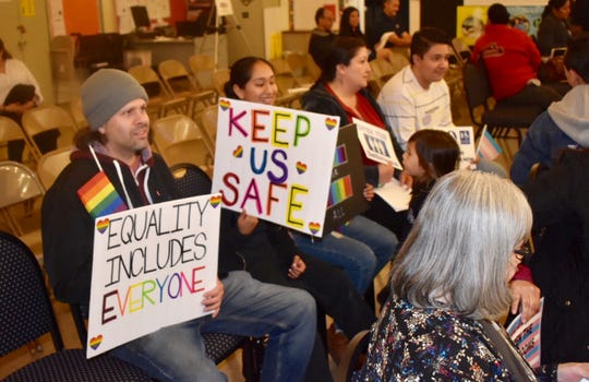 People attending a January meeting of the Santa Paula Unified School District Board asked for more access for transgender students to single-person bathrooms at Santa Paula High School.