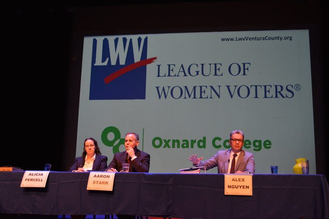 The League of Women Voters of Ventura County hosted a debate on Oxnard's Measure B on Feb. 12.