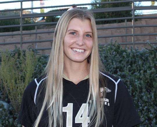 Senior Abby Dermott scored two goals at Dos Pueblos to lift the Oak Park High girls soccer team to its first playoff win in five years on Thursday night.