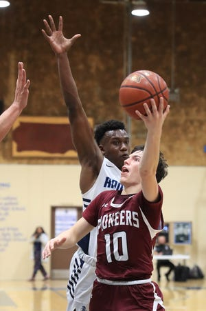 Redwood hosts Mt. Whitney in a West Yosemite League high school boys basketball game on Thursday, February 13, 2020.