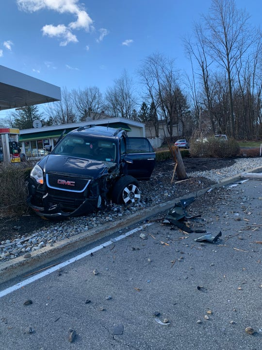 A crash closed South Little Tor Road in Clarkstown on Feb. 14, 2020.