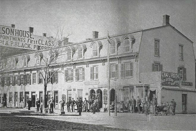 During the 19th century, Lawyers Row occupied land south of the courthouse on the west side of Market Street in the City of Poughkeepsie. It contained the offices of some of the most prominent attorneys in the region. Today, the parcel in the site of the Dutchess County Office building.