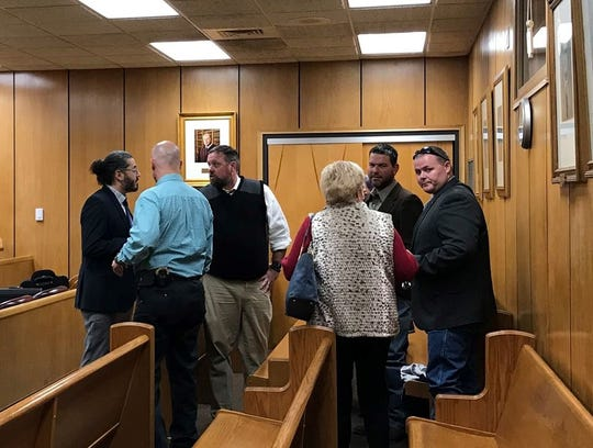 Family and friends of a Wichita Falls man who was severely assaulted and the prosecution team lingered a few moments after William Edward Dillard Muirhead was sentenced Thursday in 78th District Court.