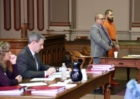 Derek Bush, represented by Attorney Keith Edwards, was sentenced to life in prison Friday after pleading guilty to the murder of 5-month-old Kenslee Spears.