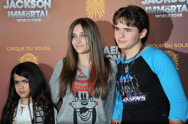 Paris Jackson and Prince Jackson at the Michael Jackson The Immortal World Tour in Los Angeles on Jan. 27, 2012.