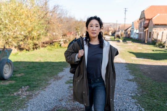 "Sandra Oh as Eve Polastri in a scene from Season 3 of ""Killing Eve."""