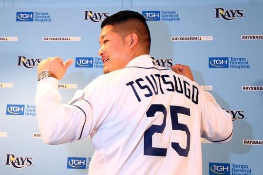 Yoshitomo Tsutsugo made his professional debut in 2010 at age 18.