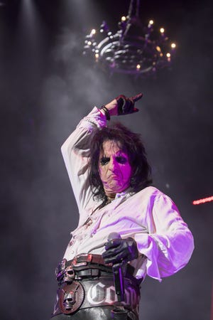 Alice Cooper performs at Rod Laver Arena on in Melbourne, Australia.