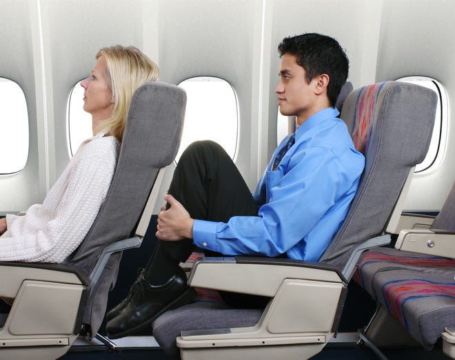 If you recline your airplane seat, you'll probably end up in someone's lap. Literally.