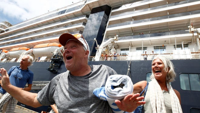 Princess Cruises ship met with protest over no testing