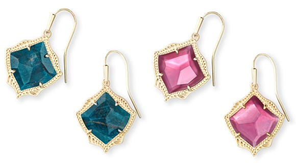 These drop earrings add a pop of color.