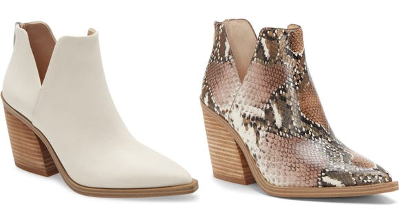 Booties are a must-have for cooler weather.