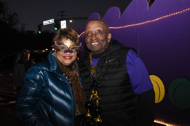 Mayor Clarence Fields (right) and his wife Rosa at the 2020 City of Pineville's Night of Lights Mardi Gras Parade. Fields is among nine who will be inducted into the Louisiana Justice Hall of Fame Friday evening joining just two other mayors in the state to have received the honor.